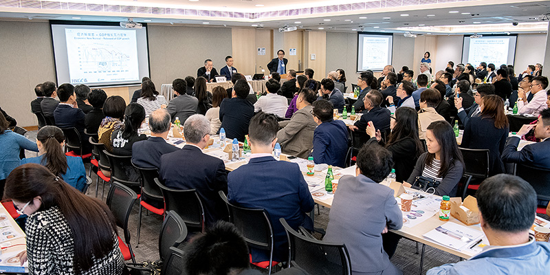 Members attend a full house roundtable at the Chamber on the latest developments in Zhuhai.