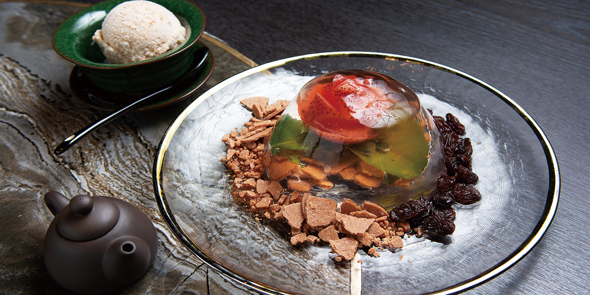 Sichuan Ice Jelly, Fresh Fruit<br/>鮮果四川冰粉