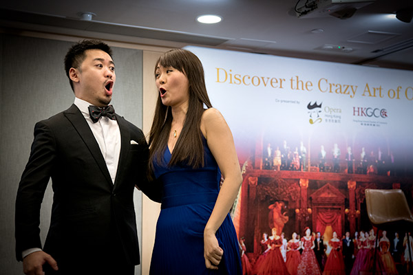 Soprano Colette Lam and baritone Alexander Chen from Opera Hong Kong treated
