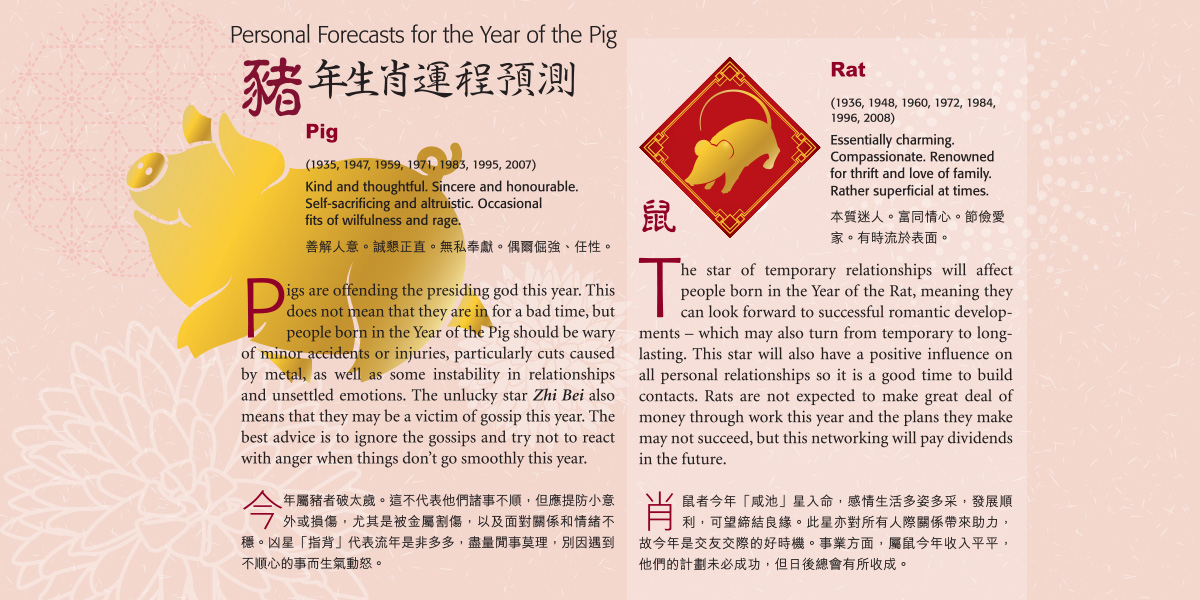 Personal Forecasts for the Year of the Pig