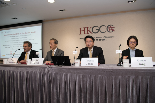 KC Kwok, Professor Terence Chong, Grace Tang, and Peter Churchouse gave their opinions on the recently announced Government Budget 2019-20.