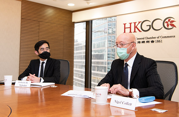 Meeting with Nigel Collet at HKGCC